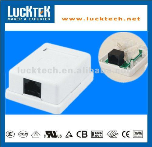 Surface Mount Box With P.C.B Jack Single Port