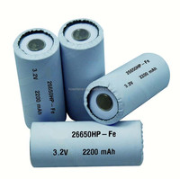 UL UN38.3 Approved 22650 2200mAh Rechargeable Battery / Lithium Battery / Lithium ion battery