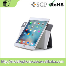 China Supplier Rotatable White PU+PC Portable Universal Tablet Cover For ipad Mini 4 Tablet Case