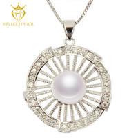 2016 fashion jewelry trends 925 sun silver natural pearl stone pendant necklace