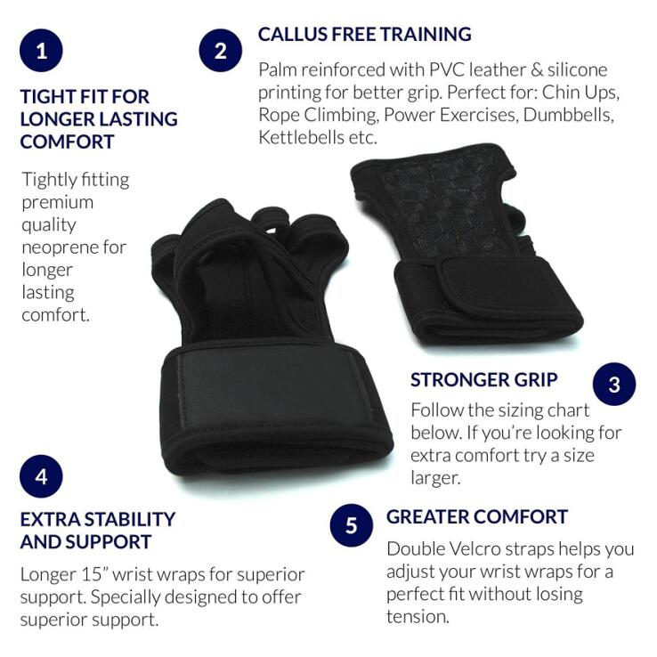 Cross Training Wrist Support Gym Workout Weight lifting Silicone Padding Gloves for sale