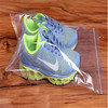 Large size shoes packaged low density poly clear plastic zipper bag