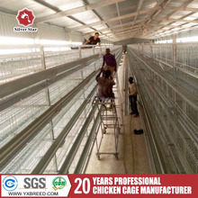Close and open house battery cage system for big or small chicken farm