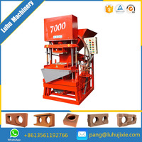 Small manual portable mobile!! ECO MASTER 7000 dry press clay brick making machine