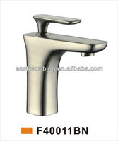 F40011BN 2013 New Design Widespread Great Waterfall Brush Nickle Polished One Handle Deck Mounted Mixer Lavatory Faucet