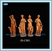 Factory Outlets High Quality White Marble Lifelike Statue