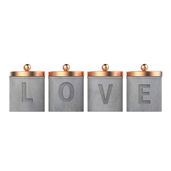 Copper candle tin container candle jar with copper cover