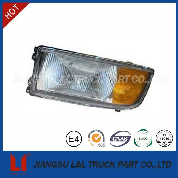 Truck yellow white head lamp for mercedes benz cab actros axor atego