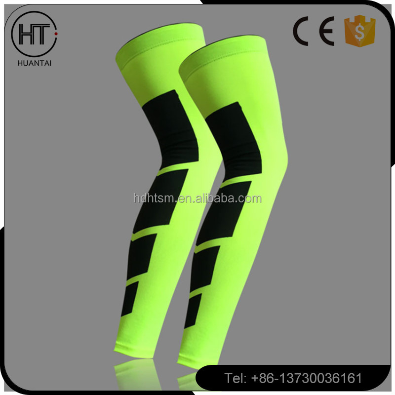 Hot sale Copper Full Leg Support for Leg Compression Spandex Sleeve Universal Full Length Leg Sport Brace Knee Support