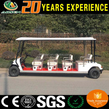 White quality resort cheap electric 8 seater mini bus golf cart