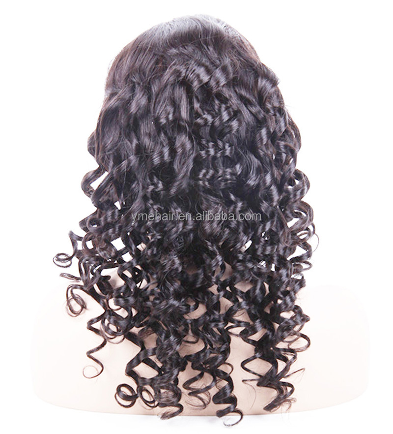 For Black Women Fashion Design Human Hair Highlights Color Full Lace Wigs