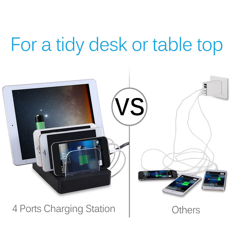 Universal Multi-Port USB Charging Station  universal usb docking station mobile charging station