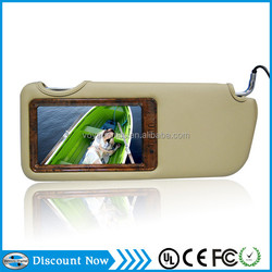 7ch sun visor car tft lcd monitor, car foldable rearview monitor with sun shade VD-SV805