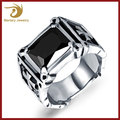 2018 Wholesale Stainless Steel Imitation Jewellery Ring Men Gothic Style Jewelry , Single Stone Ring Designs For Men