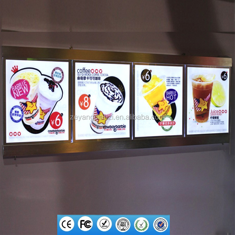 2015 advertising led menu board menu light box restaurant menu light