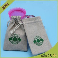 Premium Custom Small Coffee beans packaging jute bags with drawstring