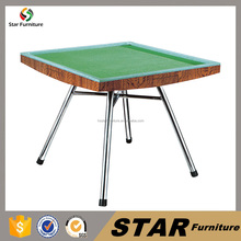 Entertainment home furniture wooden top mahjong table green table