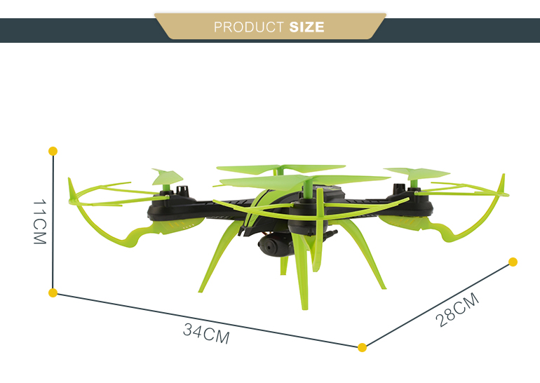 2.4g 6axis rc video wifi flying elfie drone with altitude hold mode