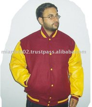 Varsity Jackets With Cow Leather Sleeves