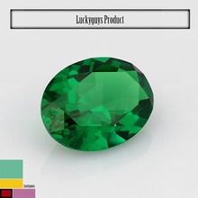 emerald,light aqua and dark amethyst colors oval shape synthetic CZ stone