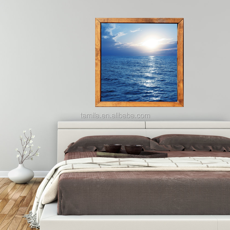 room decor large 3d sea beach scenery view pvc window decorative wall sticker