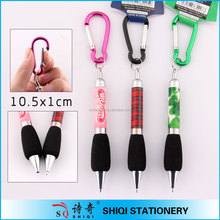 Sports metal aluminum mini mountaineering buckle pen