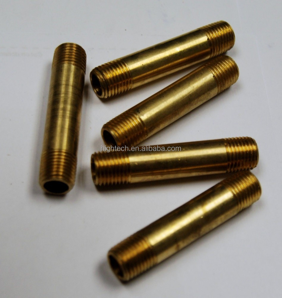 Good quality brass double thread pipe nipple