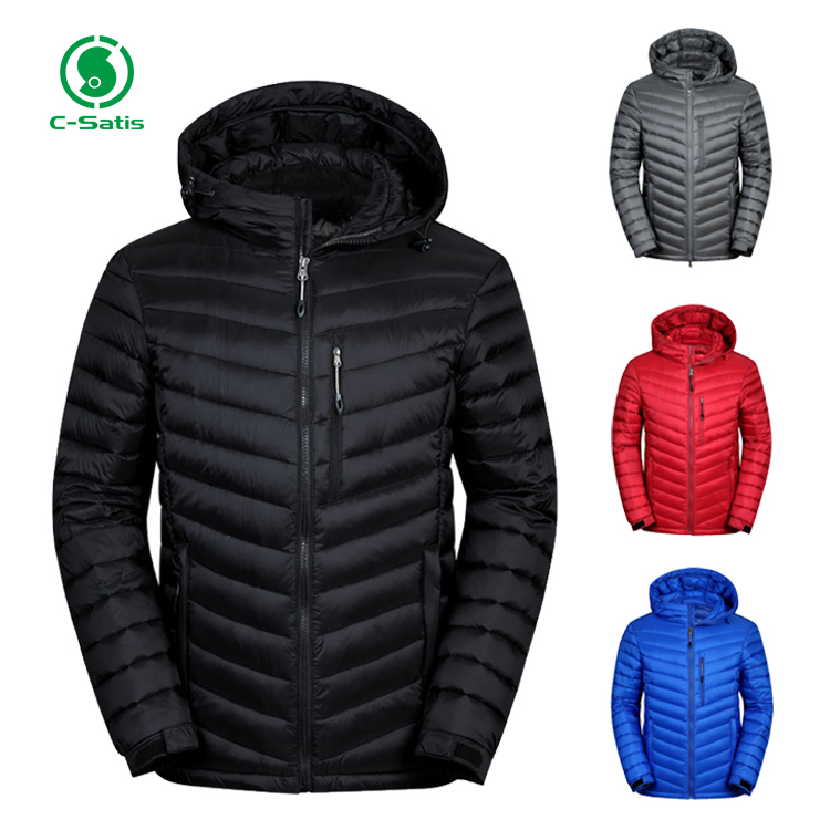 New Fashion Custom Color Thick Mens Winter Quilted Puffer Jacket with Hood