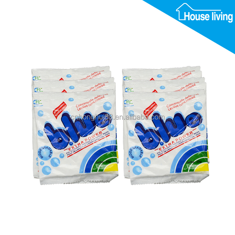 Sachet 30 gram detergent washing powder/soap bubble washing powder/washing powder making formula