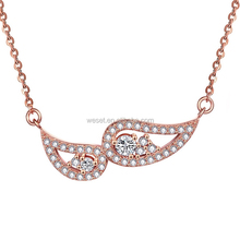 Fancy Rose Gold Micro Pave Crystal Mask Shape Pendant Necklace 2017