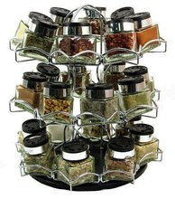 24 Bottle Chrome Spice Rack