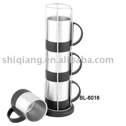 4pcs 220ml stainless steel coffee cup set BL-6016
