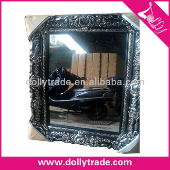 Antique silver resin frame wholesale decorative mirrors for Silver framed mirrors on sale