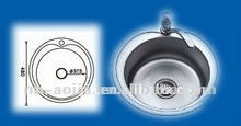 kitchen basin stainless steel round sink single bowl