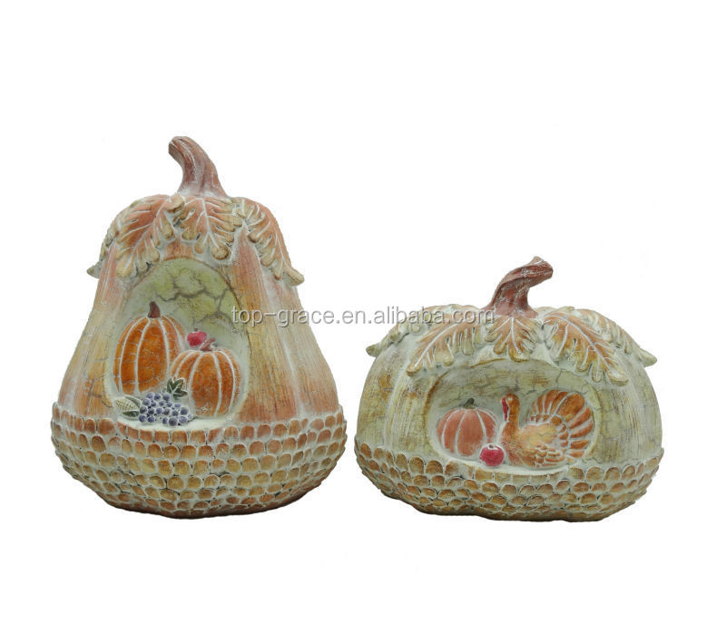 Resin harvest white craft pumpkins