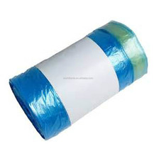 High quality draw tape plastic garbage bags trash bags with draw tape