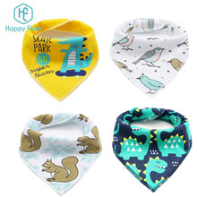 Happyflute Bandana baby Bibs - Cute <strong>Design</strong> for baby Girls, Super Absorbent 4 pcs set bibs with freeshipping