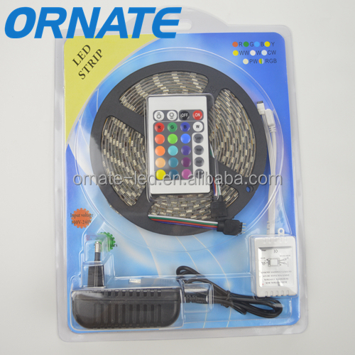 5050 RGB led flexible underbody strip ribbon kits remove controller