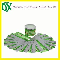 2015 High Quality PVC shrink wrap bottle lables/clear plastic labels