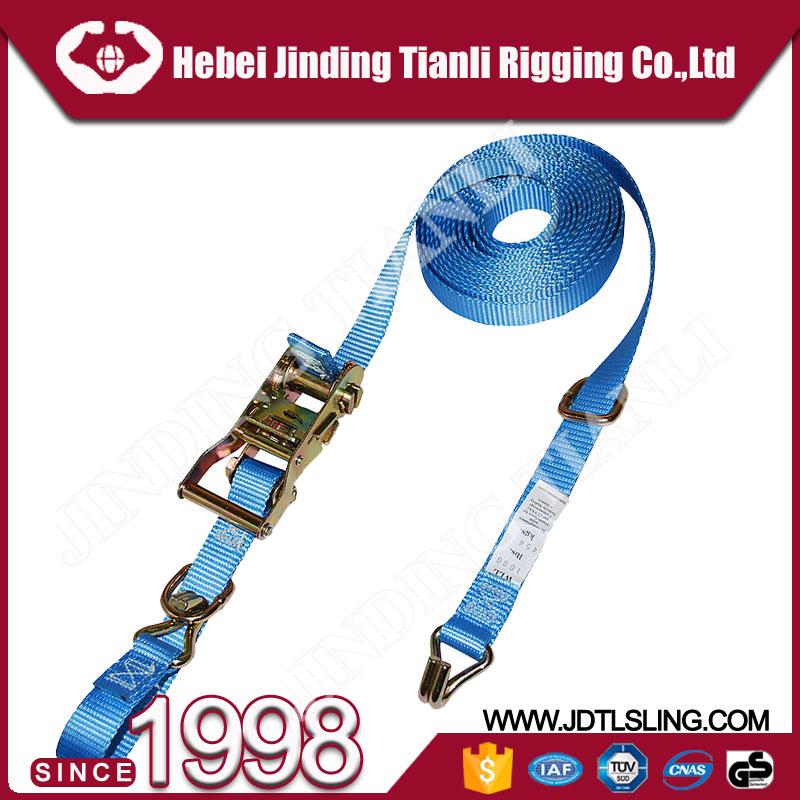 50MM fasten belt cargo lashing belts 1m adjustable strap with dboule hook