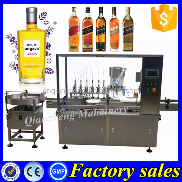 PLC controlled gin filling machine,vial filling and packaging machine