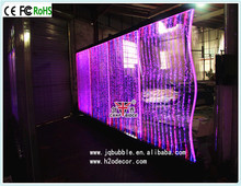 Custom made freestanding water bubble panel wall used as screen dividers for rooms