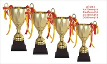 Custom metal gold plated bodybuilding trophy cup