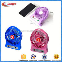 2016 promotional gift items Rechargeable battery operated black usb stand fan