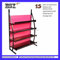 Floor standing Muliti layers single sided display perforated rack/display stands with cardboard HSX-220