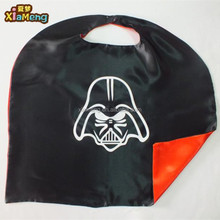 Supply all kinds superhero double layers satin Halloween capes for kids