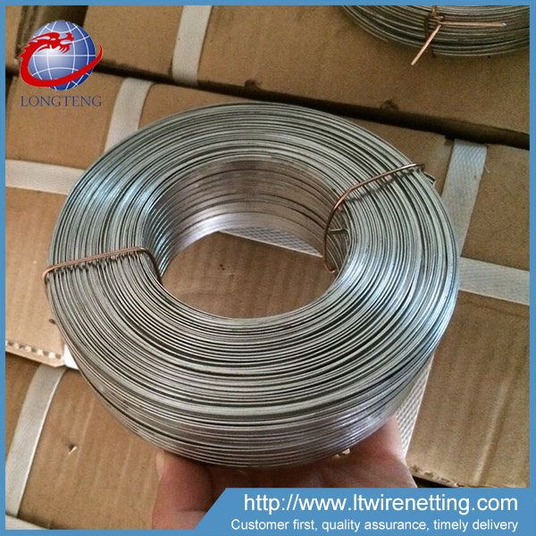 Anping Factory Galvanized / Copper Coated Flat Rectangle Wire