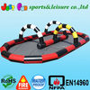 Outdoor inflatable race,interactive inflatable race track