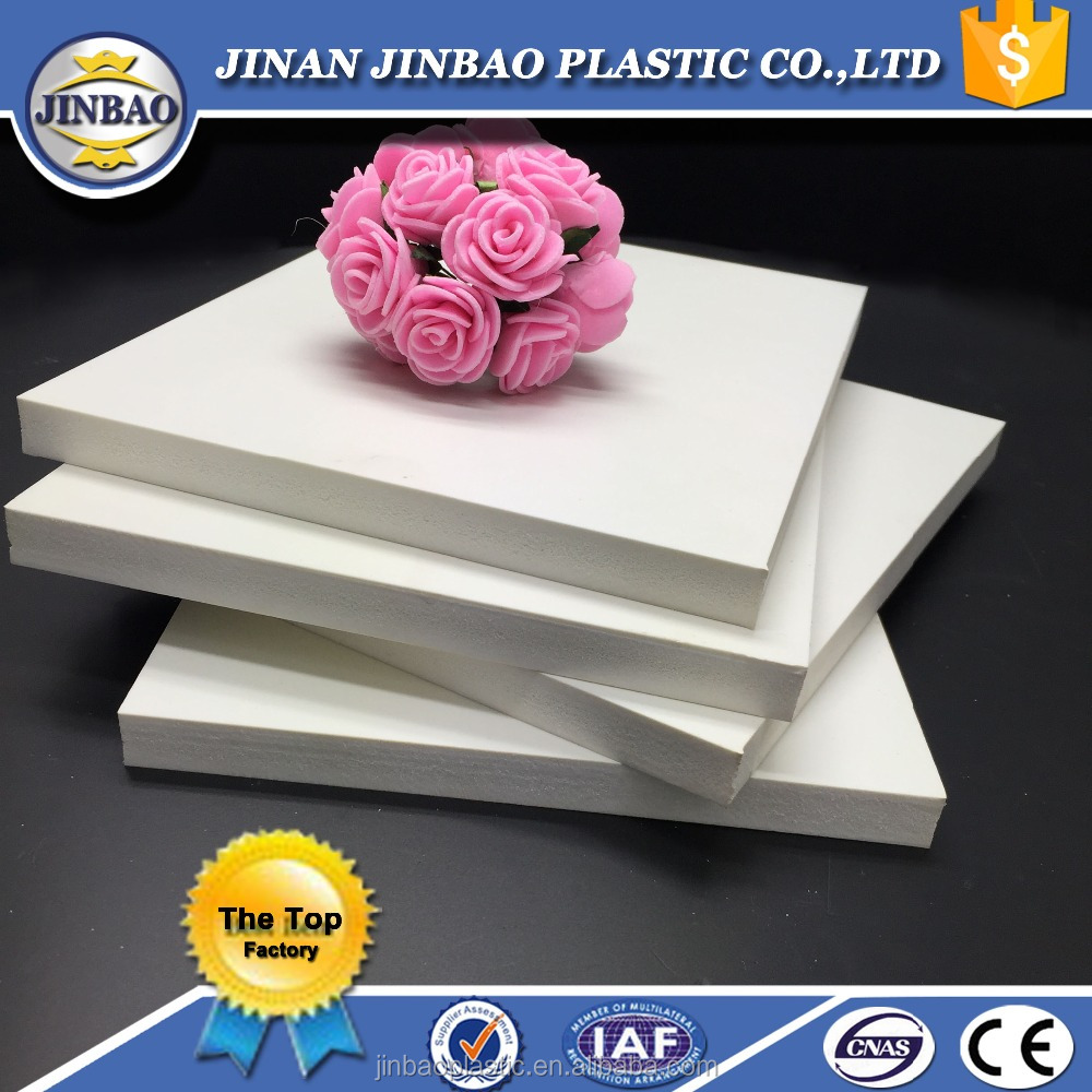 Jinbao easy to clean and maintain white pvc foam board for bathroom