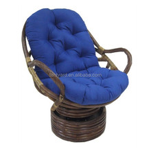 custom tufted round patio garden chair cushion blue Rocking Chair Pad